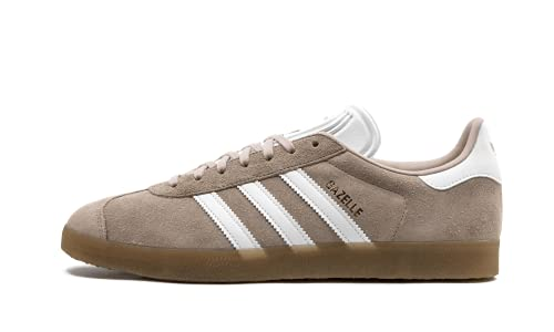 adidas Originals Men's Gazelle Fashion Sneakers, Ash Pearl/Footwear White/Gum, 8 Regular US