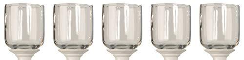 Novaliv 5X Teelichtaufsatz I klar 10 cm Kerzenständer Glas I Adventskranz Teelichthalter Glasaufsatz für Kerzenleuchter Stabkerzenhalter Kerzenpick