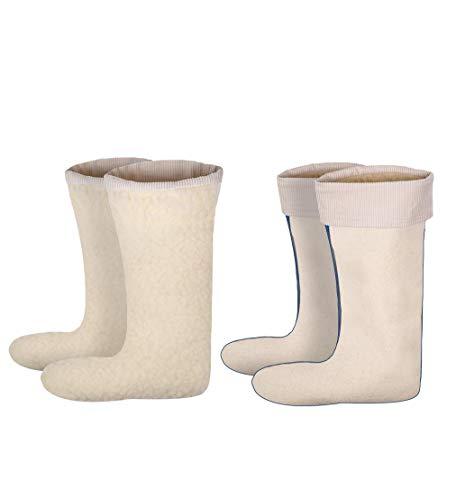 Sockenversandhandel 1 Paar Stiefeleinsatz mit Cordstulpe, Natur, 45-46 / Einzelpack