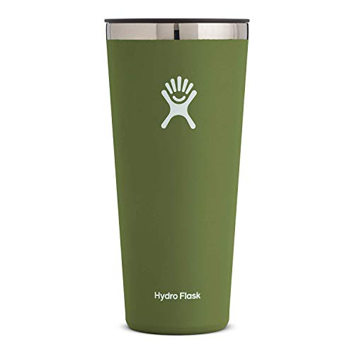 Hydro Flask Tumbler Cup - Stainless Steel & Vacuum Insulated - Press-in Lid - 32 oz, Olive