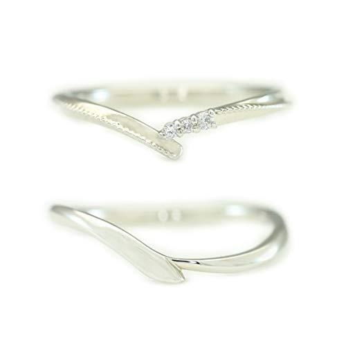 [ココカル]cococaru K10ゴールド ペアリング 2本セット 結婚指輪 マリッジリング ダイヤモンド 日本製(レディースサイズ17号 メンズサイズ10号)