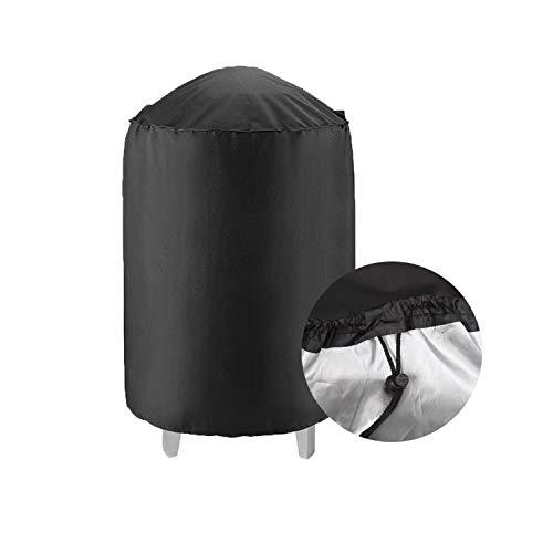 PTN Barbecue Copertura Impermeabile, Telo Protettivo per BBQ Grill con Rivestimento PVC Anti-UV Prova di Strappo Coperchio Griglia, Copri Barbecue, Nero, 27 inch