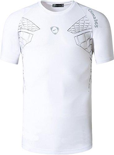 Jeansian Hombres Deporte Secos De Manga Corta Camiseta Men Sport Quick Dry Short Sleeve T-Shirt...