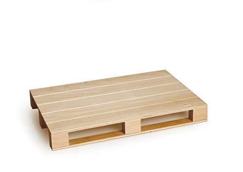 Excelsa Real Wood Tagliere a Servire Pallet, Legno Naturale, 30 x 20 x h. 3.7 cm