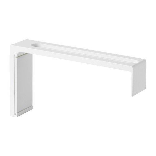 Ikea VIDGA Wandbeschlag in weiß; zur Montage von VIDGA Gardinenschienen; (12cm)