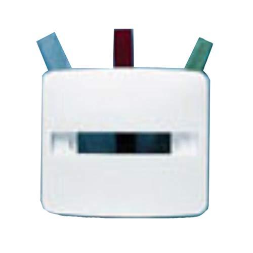 Tapa para señalizador luminoso, compatible con mecanismo 8180, incluye difusores en color rojo, verde y transparente, 1 x 8 x 8 centímetros, color blanco (referencia: 8280BA)