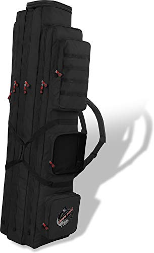 normani XXL Angel-Rutentasche Ruttenfutteral mit 3 Innenfächer - Längenverstellbar von 150 bis 190 cm Farbe Schwarz