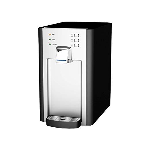 SPRUDELUX Auftisch-Trinkwassersystem RED Diamond ohne CO2 Flasche. Profi-Wassersprudler für den Privathaushalt. Spritziges Mineralwasser/Sprudelwasser + kochend heiß 85℃ Sprudelgerät Wassersprudler