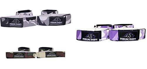 Sterling Sports® Handgelenkbandagen für Gewichtheben/Krafttraining Einheitsgröße 3er Set Cameo grau lila grün