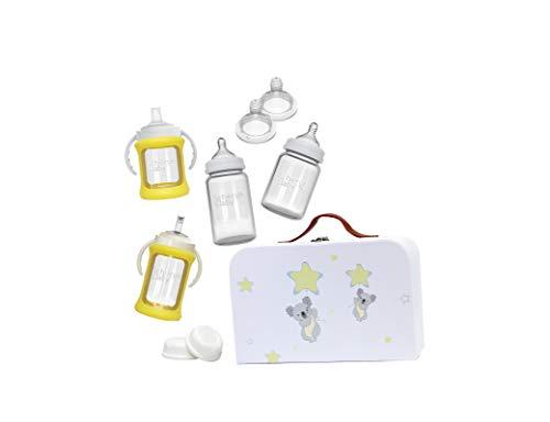 Cherub Baby Glass Bottle Starter Kit, Yellow