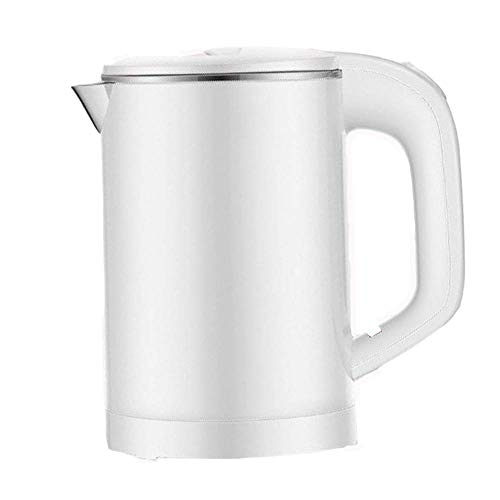 Electric Kettle,0.6L Capacity With Fast Boiling LED Indicator, 600W With 360deg;,304 Stainless Steel,Kettle Overheating Protection - dongdong (Color : Silver)