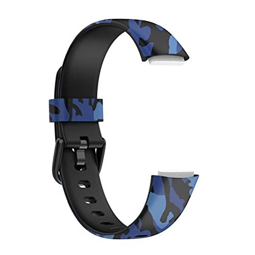 Akemaio Correas Deportivas de Silicona Suave de Repuesto clásicas compatibles con Fitbit Luxe Correa de Repuesto Correa de TPU Suave Correa de Reloj Impermeable