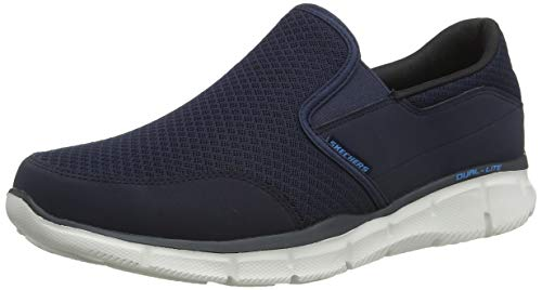 Skechers Equalizer Persistent Men Low-Top Sneakers, Blue (Navy), 9 UK (43 EU)