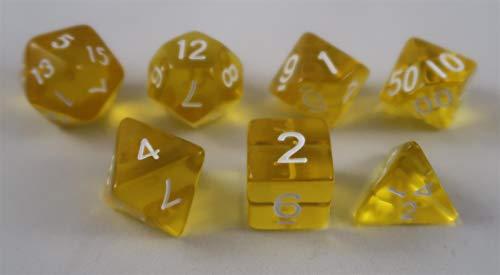Würfel Stube transparent gelb Set