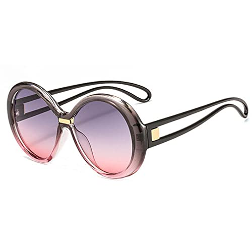 UKKD Gafas De Sol Gafas De Sol Mujeres Hombres Gradiente Clásico Gafas De Sol Mujer Vintage Redonda Gafas Gafas Uv400-C8
