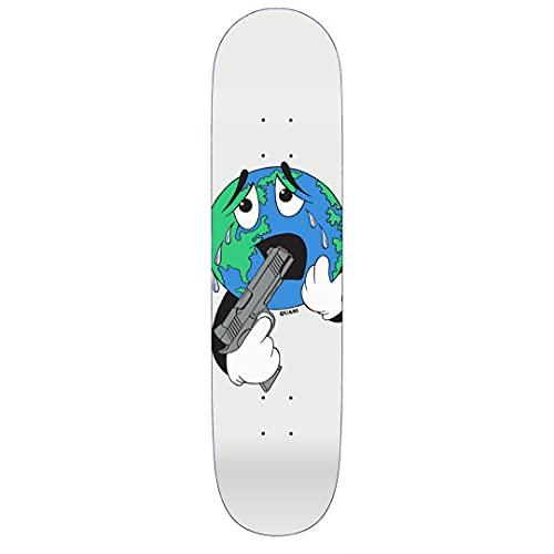 Quasi Skateboards World One Skateboard-Brett / Deck, 21,3 cm, Weiß