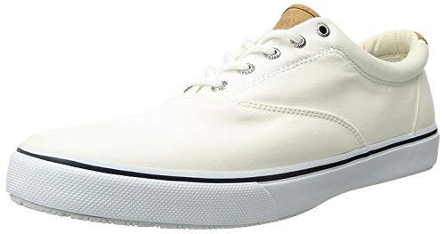 Sperry Striper Laceless, Baskets Homme, Blanc (White), 40.5 EU