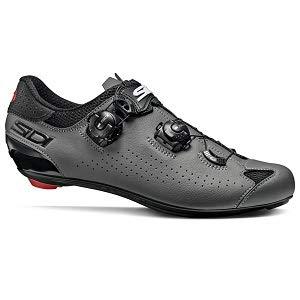 SIDI Genius 10 Chaussures de Cyclisme pour Homme, Noir Gris, 40,5