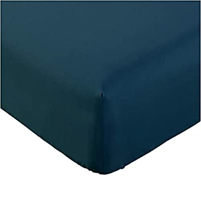 Mellanni Fitted Sheet Queen Royal-Blue - Brushed Microfiber 1800 Bedding - Wrinkle, Fade, Stain Resistant - Deep Pocket - 1 Single Fitted Sheet Only (Queen, Royal Blue)