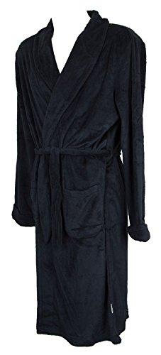 RAGNO Vestaglia da Camera Uomo in Caldo e Morbido Pile Homewear Articolo N25318, 078 Bleu, Taglia 56