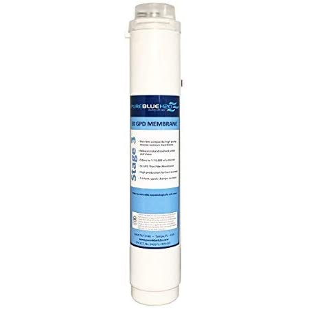 Pure Blue H2O Stage 3 Membrane Replacement Drinking Water Filter 1//10,000 Micron
