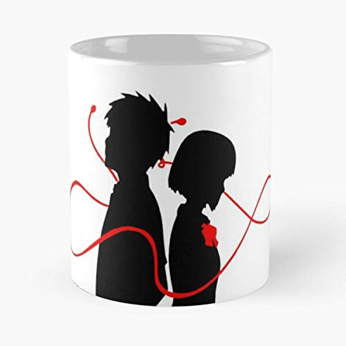 Taki Name Destiny Red Fate Your Romantic String Mitsuha Best Taza de café de cerámica de 325 ml
