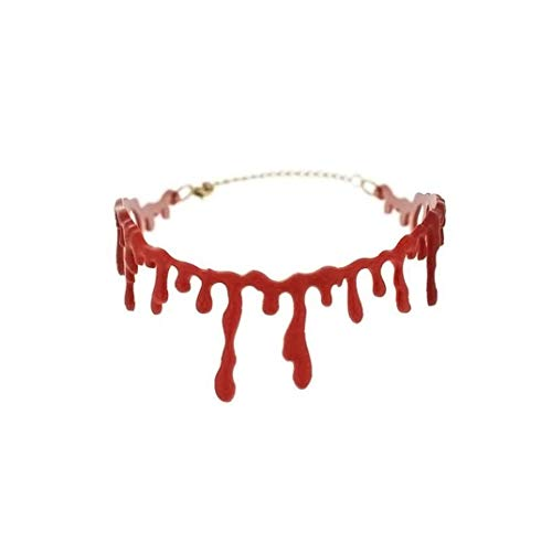 Creative Dripping Blood Halloween Party Choker Halloween Simulation Bloodstain Necklace Vampire Costume Accessory Makeup Art