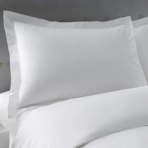 King Pillow Sham Covers Set Of 2 Super Soft King 20X40 Size Pillow Covers Pillowcase With 100 Egyptian Cotton 500 Thread Count King 20x40 White