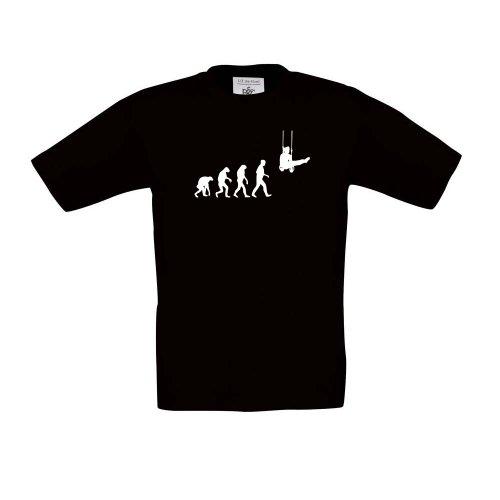 Cre9tive Shirts Turner Evolution, T-Shirt pour Enfant, Unisexe, Noir