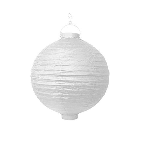 PartyDeco lanternes Papier pour Jardin à Suspendre, Couleur Blanc, lao30 – 008