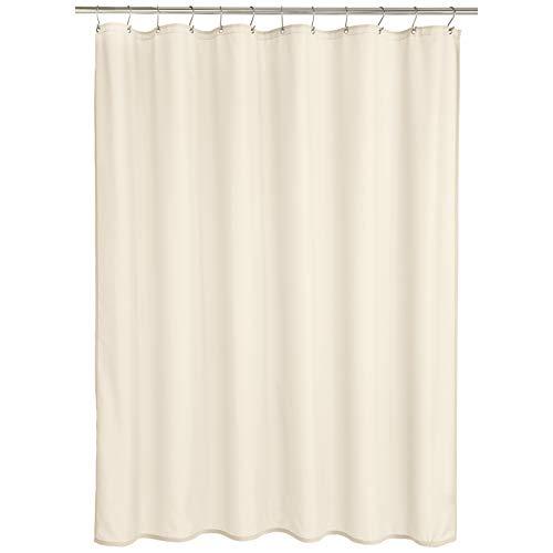 Amazon Basics - Cortina de ducha de poliéster estilo Dobby, vainilla, 183 x 200 cm