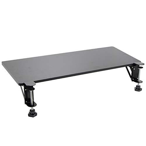 Ergonomic Desk Extender Clamp On Keyboard Tray, Keyboard Drawers Table Mount Armrest Shelf Stand Slide Computer Elbow Arm Support Wristrest Pad (Black)