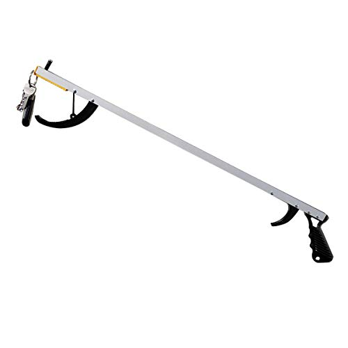 """Reacher Grabber Tool. Norco Featherlite Reacher, 26"""". Lightweight Reaching Aid with Magnetic Tip Extends Reach. Use as a Dressing Aid. Picker Upper for Cell Phone, Remote, Trash. Elderly, Rehab kit."""