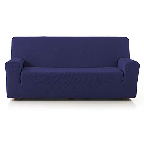 PROMOPACK 3+2 Dúo Fundas de Sofá Elástica Rustika Basic Home by Texturas (Azul)