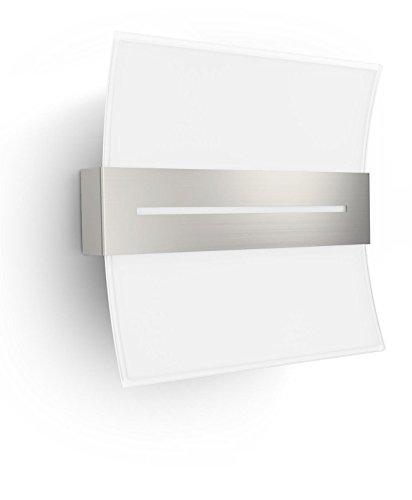 Philips 335161716 Brazos Luminaire d'Intérieur Applique Murale LED Verre Chrome 6 W