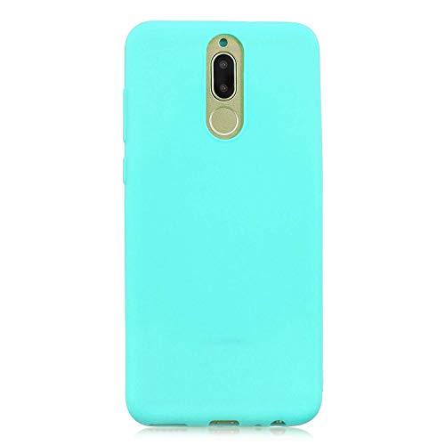 cuzz Funda para Huawei Mate 10 Lite+{Protector de Pantalla de Vidrio Templado} Carcasa Silicona Suave Gel Rasguño y Resistente Teléfono Móvil Cover-Azul Claro