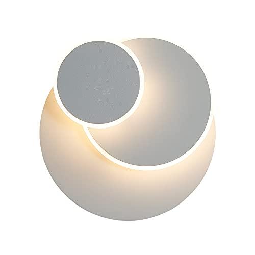 Applique 15W LED, Créatif eclipse 3 en 1 Protection Solide Applique Murale Interieur Lampe Moderne Simple Salon Allée Balcon Lampe Led Chrome Chambre Tête de Lit