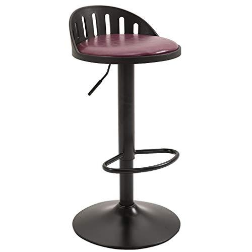 BAR STOOL WGZ - Silla de barra de elevación giratoria con alto taburete, color negro (color: morado)