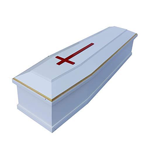 Xiaolizi Blanco Tradicional Occidental Cristiana ataúd de