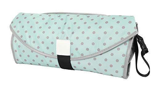 Portátil Bebé Portátil Pañal Cambiando Mat Universal Impermeable Cuidado Cuidado Pañal Cambio Mat New Born Products para el hogar y los Viajes (Color : Dark Green Dot)