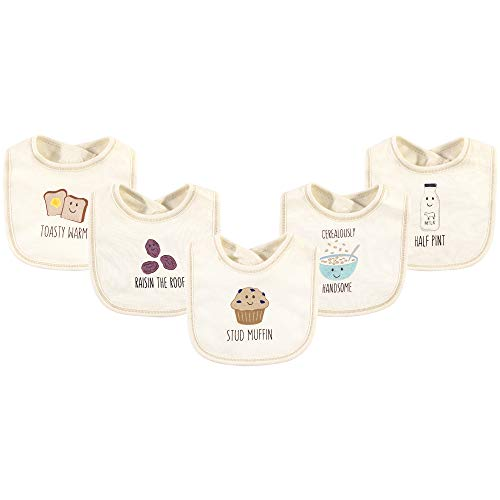 Touched by Nature Unisex Baby Organic Cotton Bibs, Muffin, One Size