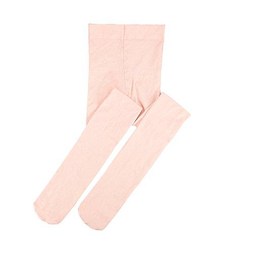 STELLE Ballet Dance Foot Tights for Girls Women Teens, Ultra Soft Tight (M, Ballet Pink)