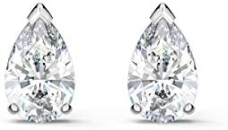 Swarovski Attract Pear Shaped Pierced Stud Earrings with Clear Crystals on a Rhodium Plated Setting, a Part of the...