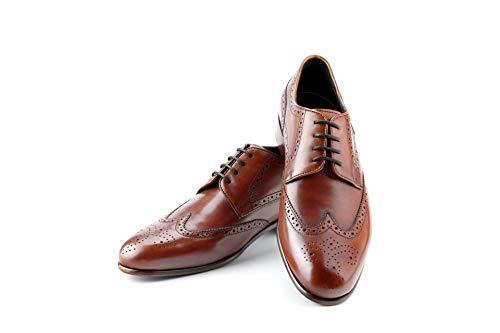 Prime Shoes Flexible Lake City Schnürschuh Braun Crust Cognac mit Budapestermuster aus feinstem Kalbsleder Sacchetto (11)