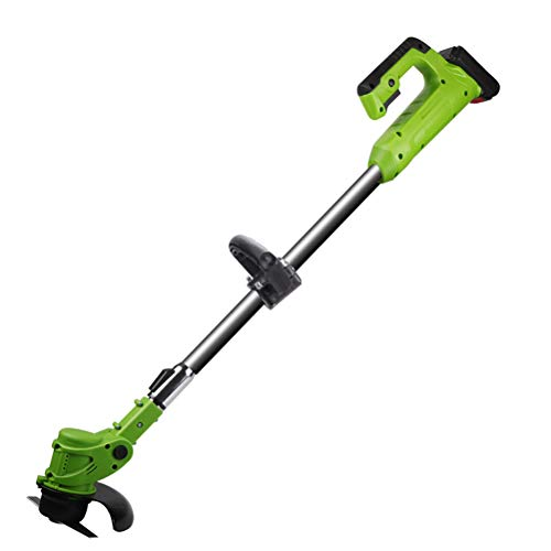 Best Review Of 24V 450W Lightweight Cordless Strimmer,1-30cm Retractable Electric Grass Trimmer Lawn...
