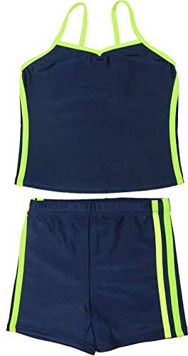 [グロウンチャーム] スクール水着 女子 セパレート インナー付き UVカット skpb3022nica ライトグリーン 110cm