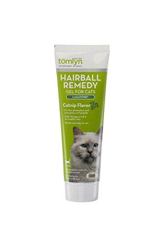Tomlyn Laxatone - Gel de remedio para Gatos con Sabor a Catnip, 4 onzas