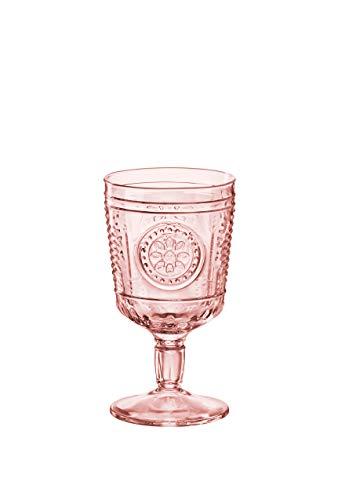 Bormioli Rocco Bormioli Romantic - Juego de 4 copas de cristal, rosa,...