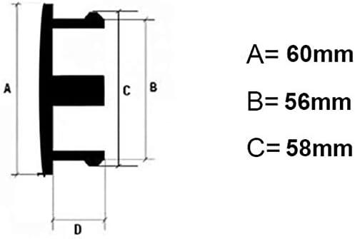 60 mm Tapacubos Coche Insignia del Polvo Accesorios de Estilo 4 Piezas Coche Tapas Centrales Llantas para BBS