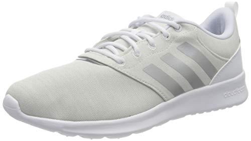 adidas Womens QT Racer 2.0 Running Shoe, FTWWHT/SILVMT/ORBGRY,42 EU